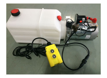 DC 24V 1600W Motor Horizontal Single Acting Mini Hydraulic Power Pack برای تریلر معلق